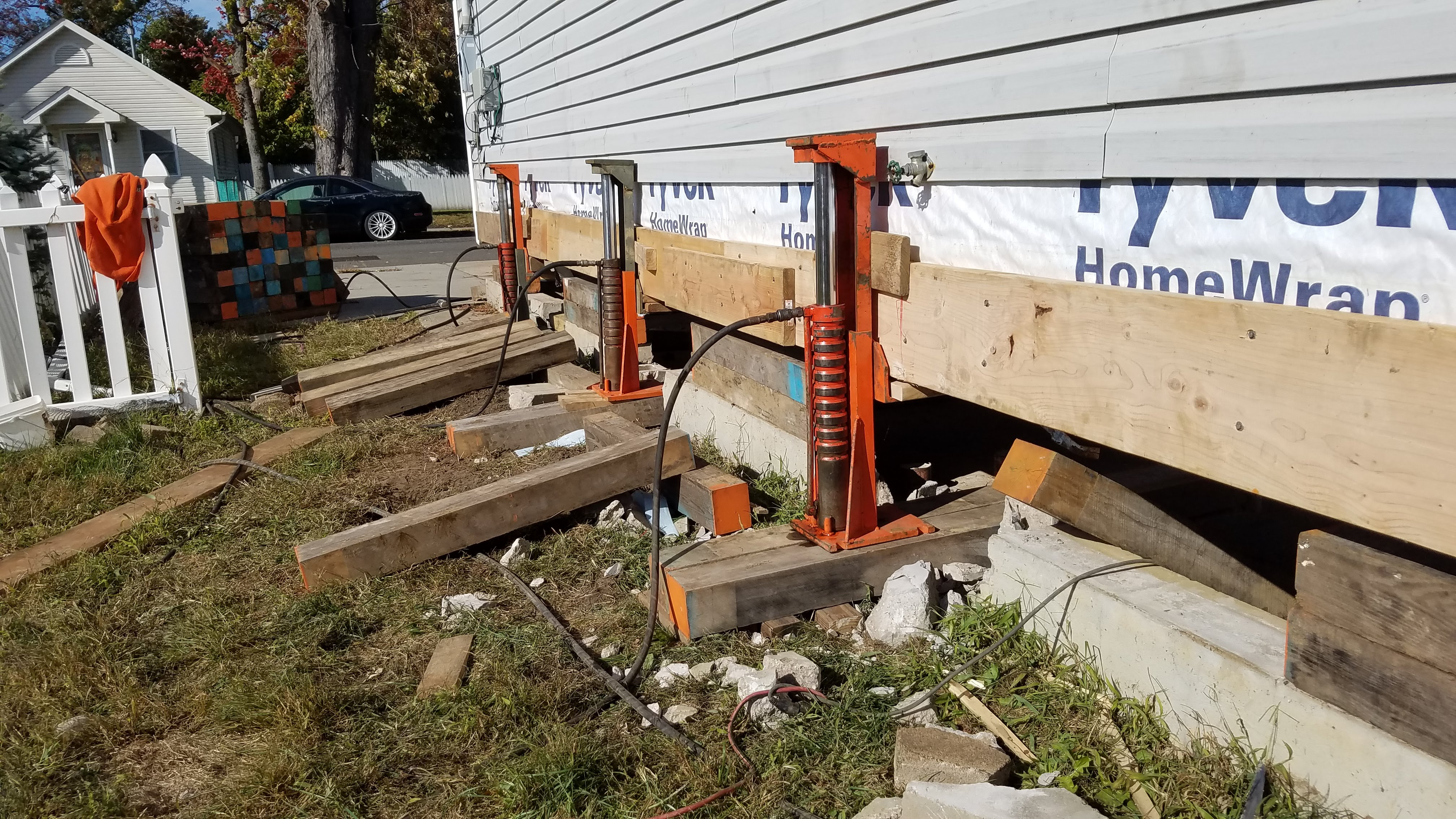 House lifting and construction lifting near Brick, New Jersey