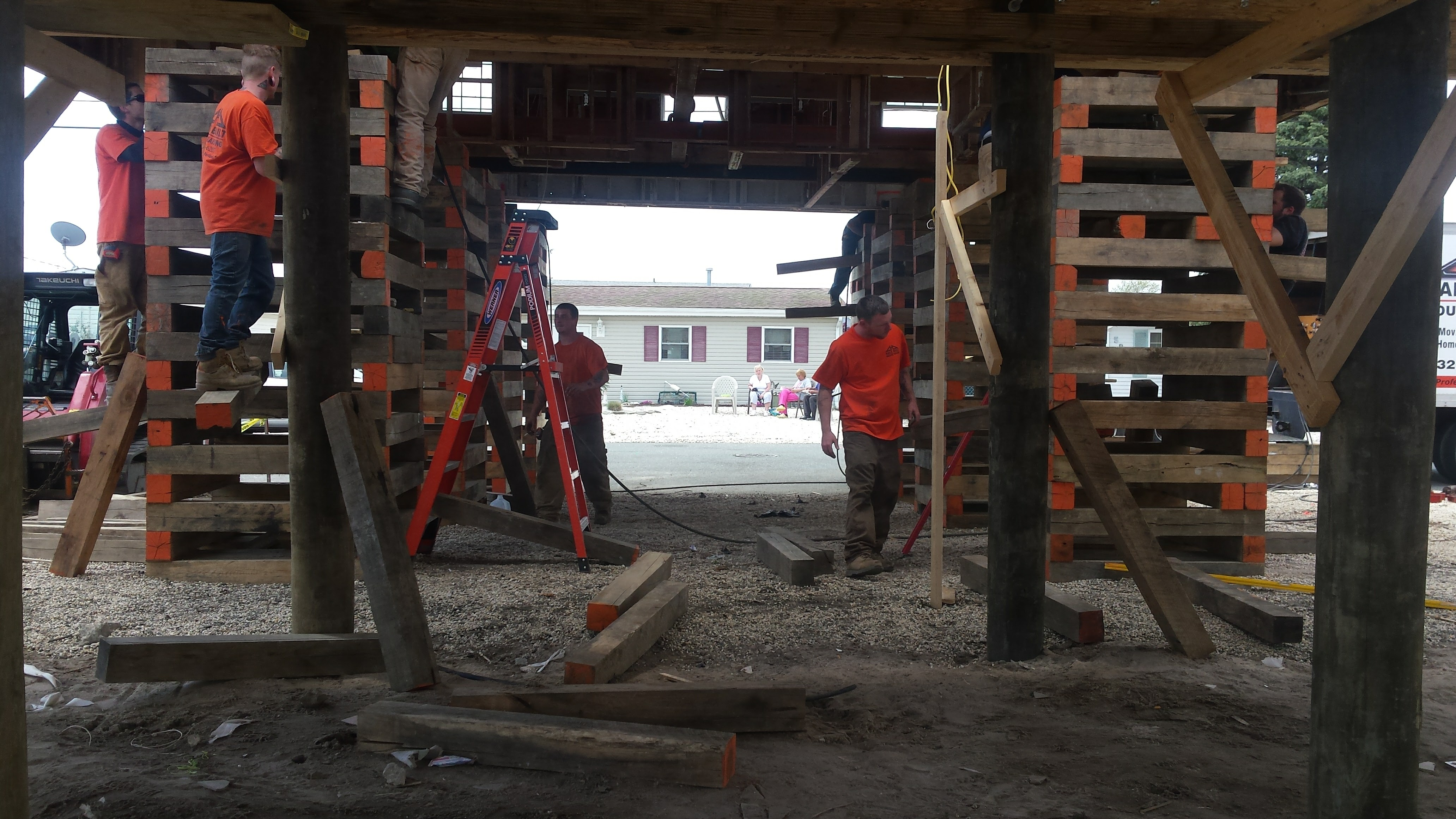 House raising and slab separation in Seaside Heights, NJ